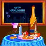 Happy Hanukkah for Israel Festival of Lights celebration Stock Images