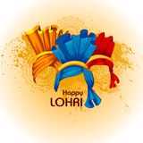 Happy Lohri festival of Punjab India background. Easy to edit vector illustration on Happy Lohri festival of Punjab India background Royalty Free Stock Photography