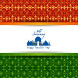 Happy Republic Day of India tricolor background for 26 January. Easy to edit vector illustration of Happy Republic Day of India tricolor background for 26 Royalty Free Stock Photos