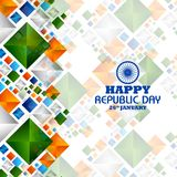 Happy Republic Day of India tricolor background for 26 January. Easy to edit vector illustration of Happy Republic Day of India tricolor background for 26 Stock Images