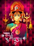 Happy Durga Puja India festival holiday background Royalty Free Stock Photos