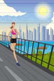 Jogging Lady Royalty Free Stock Photos