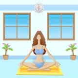 Lady doing Yoga Royalty Free Stock Photography