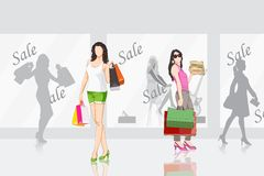 Lady shopping in store Stock Photography