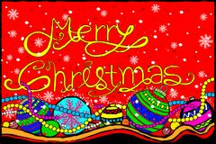 Merry Christmas and Happy New Year Holiday greetings background. Easy to edit vector illustration of Merry Christmas and Happy New Year Holiday greetings Royalty Free Stock Photo