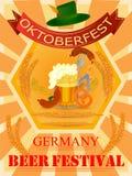 Oktoberfest holiday festival greeting background of Germany royalty free illustration