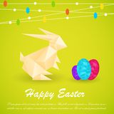 Origami Easter Bunny Royalty Free Stock Photos