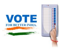 Poster banner show hand of Indian people for election and vote polling campaign of India. Easy to edit vector illustration of poster banner show hand of Indian vector illustration