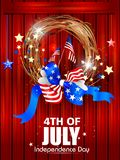 4th July, Independence day of America. Easy to edit vector illustration of 4th July, Independence day of America stock illustration