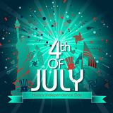 4th of July Independence Day of America background. Easy to edit vector illustration of 4th of July Independence Day of America background Stock Images