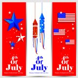 4th of July Independence Day of America background. Easy to edit vector illustration of 4th of July Independence Day of America background Royalty Free Stock Images