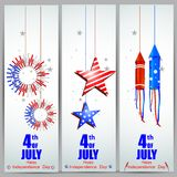 4th of July Independence Day of America background. Easy to edit vector illustration of 4th of July Independence Day of America background Stock Photos