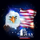 4th of July Independence Day of America background. Easy to edit vector illustration of 4th of July Independence Day of America background Royalty Free Stock Photos
