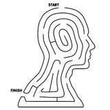 Easy To Solve Head Maze Royalty Free Stock Images