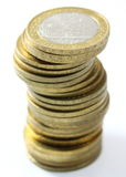 Easy to spend hard to earn. Coins Royalty Free Stock Images