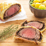 Easy Traditional Beef Wellington. If you are looking for a fancy dinner idea, look no further! Beef Wellington is what you need to impress your dinner guests Stock Image
