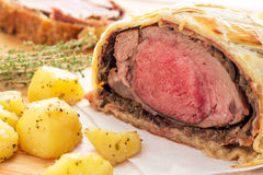 Easy Traditional Beef Wellington. If you are looking for a fancy dinner idea, look no further! Beef Wellington is what you need to impress your dinner guests Stock Images