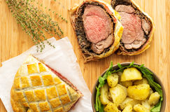 Easy Traditional Beef Wellington. If you are looking for a fancy dinner idea, look no further! Beef Wellington is what you need to impress your dinner guests Royalty Free Stock Photography