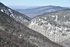 Easy way Gondola lift at Stowe Ski Resort in Vermont, view to the Spruce Peak village