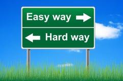 Easy way, hard way. Stock Photo