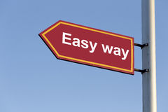 Easy way red  road sign Royalty Free Stock Photography