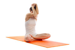 Easy yoga Pose Stock Image