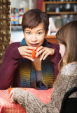 Easygoing Lady with Friend Royalty Free Stock Images