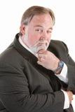 Easygoing man with beard stock photo
