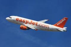 EasyJet瑞士空中客车A319银行业务 库存照片