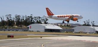 EasyJet空中客车320着陆 库存图片