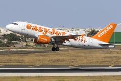 EasyJet A319 στην απογείωση Στοκ φωτογραφίες με δικαίωμα ελεύθερης χρήσης