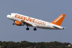 EasyJet A319 στην απογείωση Στοκ Φωτογραφία