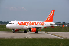 EasyJet. GENEVA, SWITZERLAND - 16 AUGUST 2008: Airbus A319 jet aircraft operated by easyJet at Geneva Cointrin International Airport on August 16, 2008. easyJet stock image