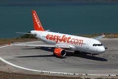 EasyJet Aerobus A320 zdjęcia royalty free