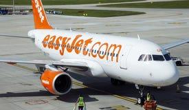 easyJet Aerobus A319 Zdjęcia Stock