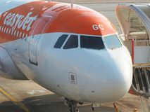 Easyjet Airbus A319 à l'aéroport international de Malpensa Images stock