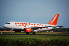 EasyJet Airbus 319 entfernen sich Stockbilder
