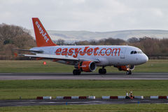 Easyjet Airbus A319 imagens de stock royalty free