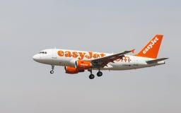 Easyjet Airbus A319 Imagem de Stock Royalty Free