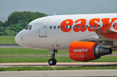 Easyjet Airbus A320. Taxiing at Manchester Airport stock photography
