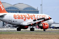 Easyjet airbus airline company passanger and comercial fly Royalty Free Stock Photos