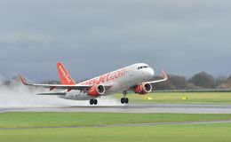 Easyjet Airbus A320 Commercial Airliner Stock Image