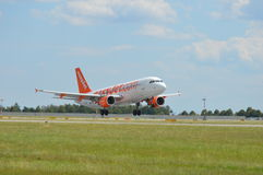 Easyjet Airbus A320 Commercial Airliner royalty free stock images