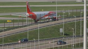 EasyJet Airbus A320-200 G-EZWC stock footage