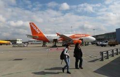 EasyJet Airbus A319 garé à Londres Luton Image libre de droits