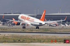 Easyjet Airbus A320 Landing at Barcelona Royalty Free Stock Image
