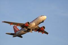 Easyjet Airbus lata słońce Zdjęcie Stock