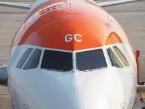 Easyjet Airbus A319 at Malpensa international airport Royalty Free Stock Photo