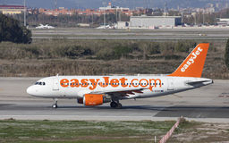 Easyjet Airbus A319 Mit einem Taxi fahren Stockfotografie