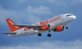 Easyjet Airbus a319 Imagen de archivo libre de regalías